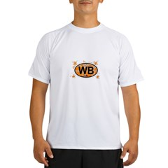 Wrightsville Beach NC - Oval Design Performance Dry T-Shirt