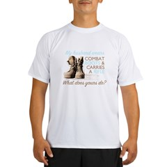 My Husband Wears Combat Boots Performance Dry T-Shirt