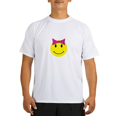 Happy Face Girl Performance Dry T-Shirt