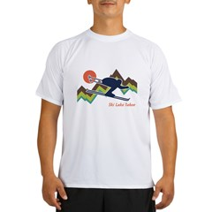 Ski Lake Tahoe Performance Dry T-Shirt
