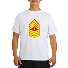 USMC Retired <BR>Master Gunnery Sergeant Performance Dry T-Shirt