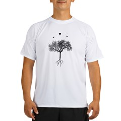 Tree and birds Performance Dry T-Shirt