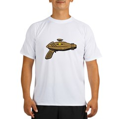 Brown Ray Gun Performance Dry T-Shirt