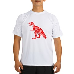 Red Dino Performance Dry T-Shirt