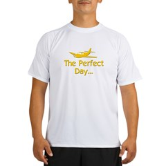 pilot airplane flying Performance Dry T-Shirt