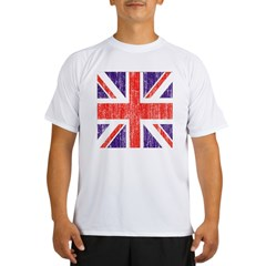 Distressed British Flag Performance Dry T-Shirt