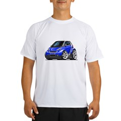 Smart Blue Car Performance Dry T-Shirt