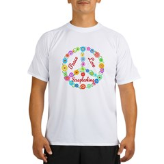 Scrapbooking Peace Sign Performance Dry T-Shirt