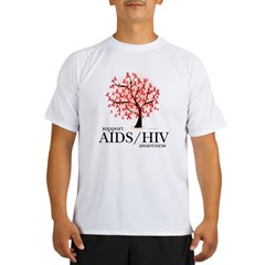 AIDS/HIV Tree Performance Dry T-Shirt