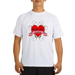 Worlds Best Teacher with heart copy Performance Dry T-Shirt