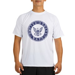 Distressed USN Logo Performance Dry T-Shirt