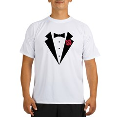 Funny Tuxedo [red rose] Performance Dry T-Shirt