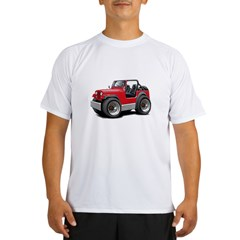 Jeep Red Performance Dry T-Shirt