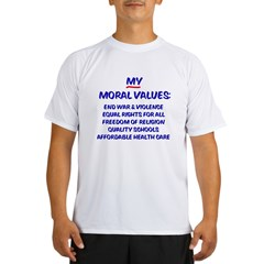 My Moral Values Ash Grey Performance Dry T-Shirt
