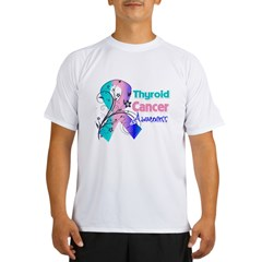 Thyroid Cancer Awareness Performance Dry T-Shirt