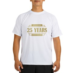 Stylish 25th Wedding Anniversary Performance Dry T-Shirt