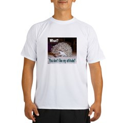 My Attitude Hedgehog Ash Grey Performance Dry T-Shirt