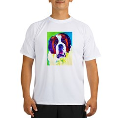 Saint Bernard #1 Ash Grey Performance Dry T-Shirt