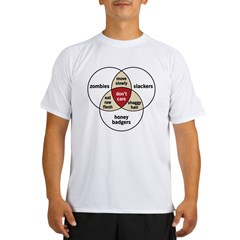Zombies Honey Badgers Slacker Performance Dry T-Shirt