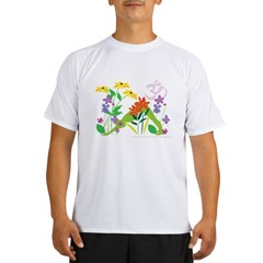 Humming Flowers by Nancy Vala Performance Dry T-Shirt
