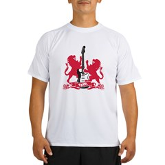 Rock Lion Guitar Cres Performance Dry T-Shirt