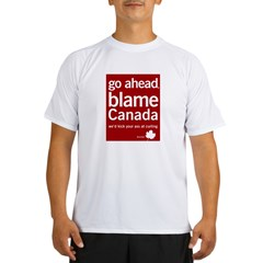 Blame Canada Ash Grey Performance Dry T-Shirt