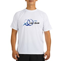 Ray 'n Bow Logo (Black) Ash Grey Performance Dry T-Shirt