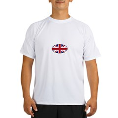 UK (Union Jack) Flag in Oval Performance Dry T-Shirt