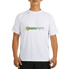 Green Party Logo (sunflower) Ash Grey Performance Dry T-Shirt