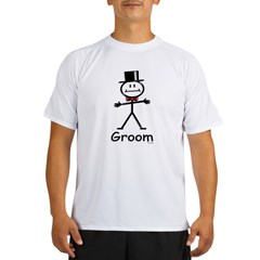 stick figure Ash Grey Performance Dry T-Shirt