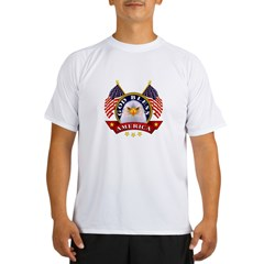 God Bless America Ash Grey Performance Dry T-Shirt