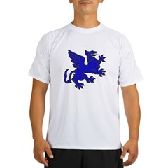Blue Griffin Ash Grey Performance Dry T-Shirt