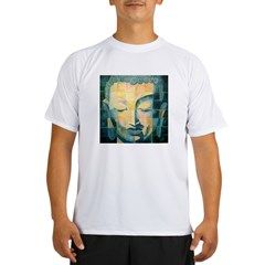 Tiled Buddha Ash Grey Performance Dry T-Shirt