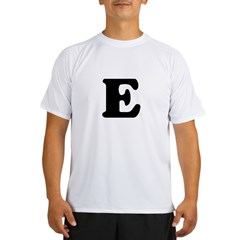 Large Letter E Ash Grey Performance Dry T-Shirt