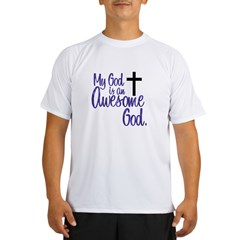 Awesome God Ash Grey Performance Dry T-Shirt