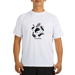 5 animal Kung Fu logo Ash Grey Performance Dry T-Shirt