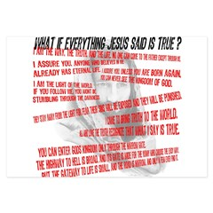 What if Jesus is truth.jpg 3.5 x 5 Flat Cards