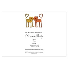 Love Cats 3.5 x 5 Flat Cards