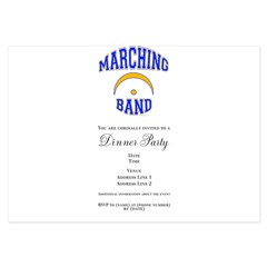 Marching Band 3.5 x 5 Flat Cards