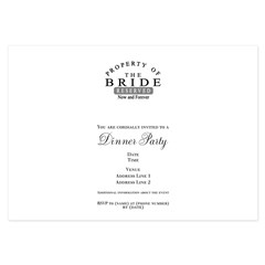 Property Bride Forever 3.5 x 5 Flat Cards