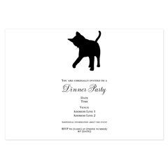 Black Kitten Silhouette 3.5 x 5 Flat Cards