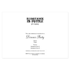 Resistance is Futile 3.5 x 5 Flat Cards