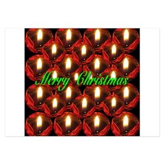 Twenty-six Memorial Rose Christmas Candles 3.5 x 5 Flat Cards
