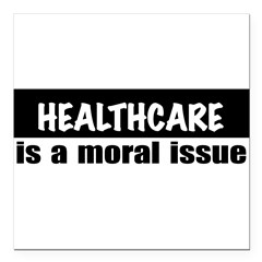 "Healthcare Square Car Magnet 3"" x 3"""