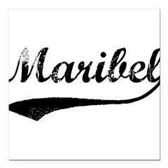 "Vintage: Maribel Square Car Magnet 3"" x 3"""