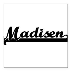 "Black jersey: Madisen Square Car Magnet 3"" x 3"""