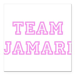 "Pink team Jamari Square Car Magnet 3"" x 3"""