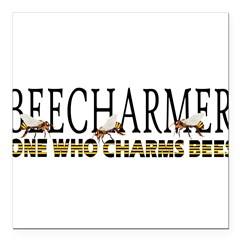 "BEECHARMER Square Car Magnet 3"" x 3"""
