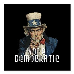 "Vote Democratic II - Uncle Sa Square Car Magnet 3"" x 3"""