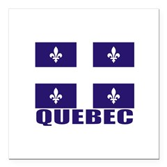 "Quebec Square Car Magnet 3"" x 3"""